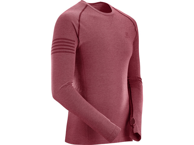 Salomon Pulse Seamless Running Shirt longsleeve Men red